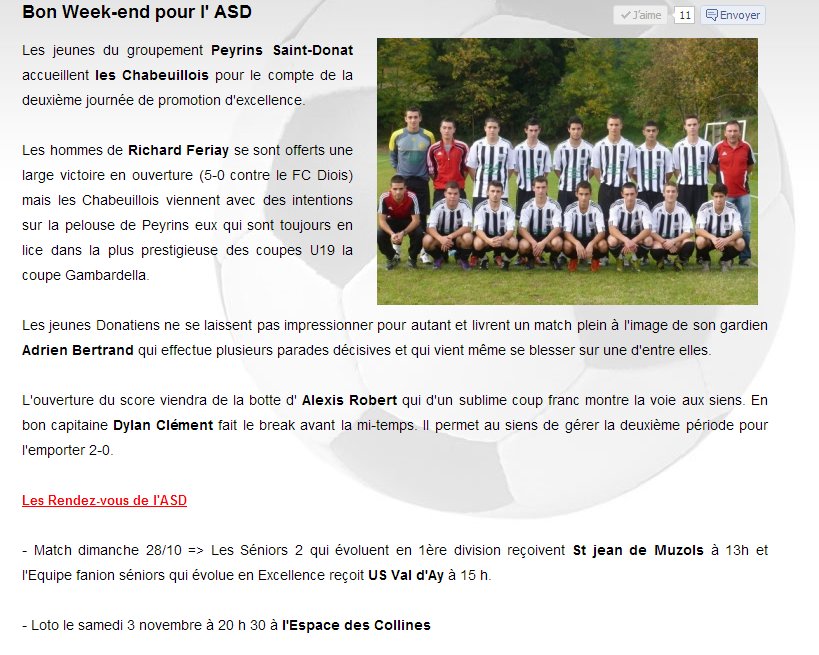 ECHOS DES SPORT U19