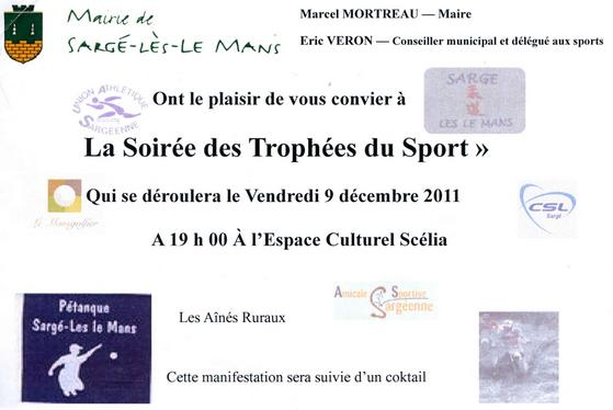 Invitation Trophées du Sport