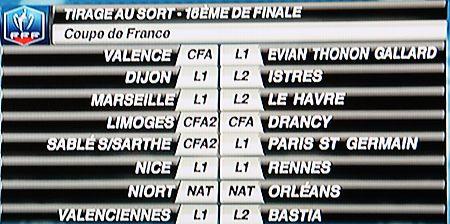 Actualit coupe de france tirage des 16 me club - Tirage des 16eme de finale de la coupe de france ...