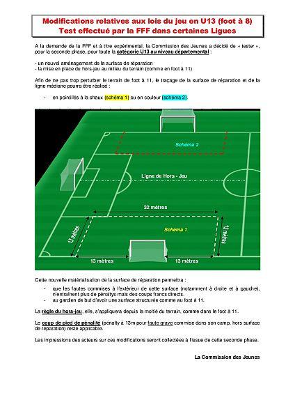 Nouvelle règlementation U13