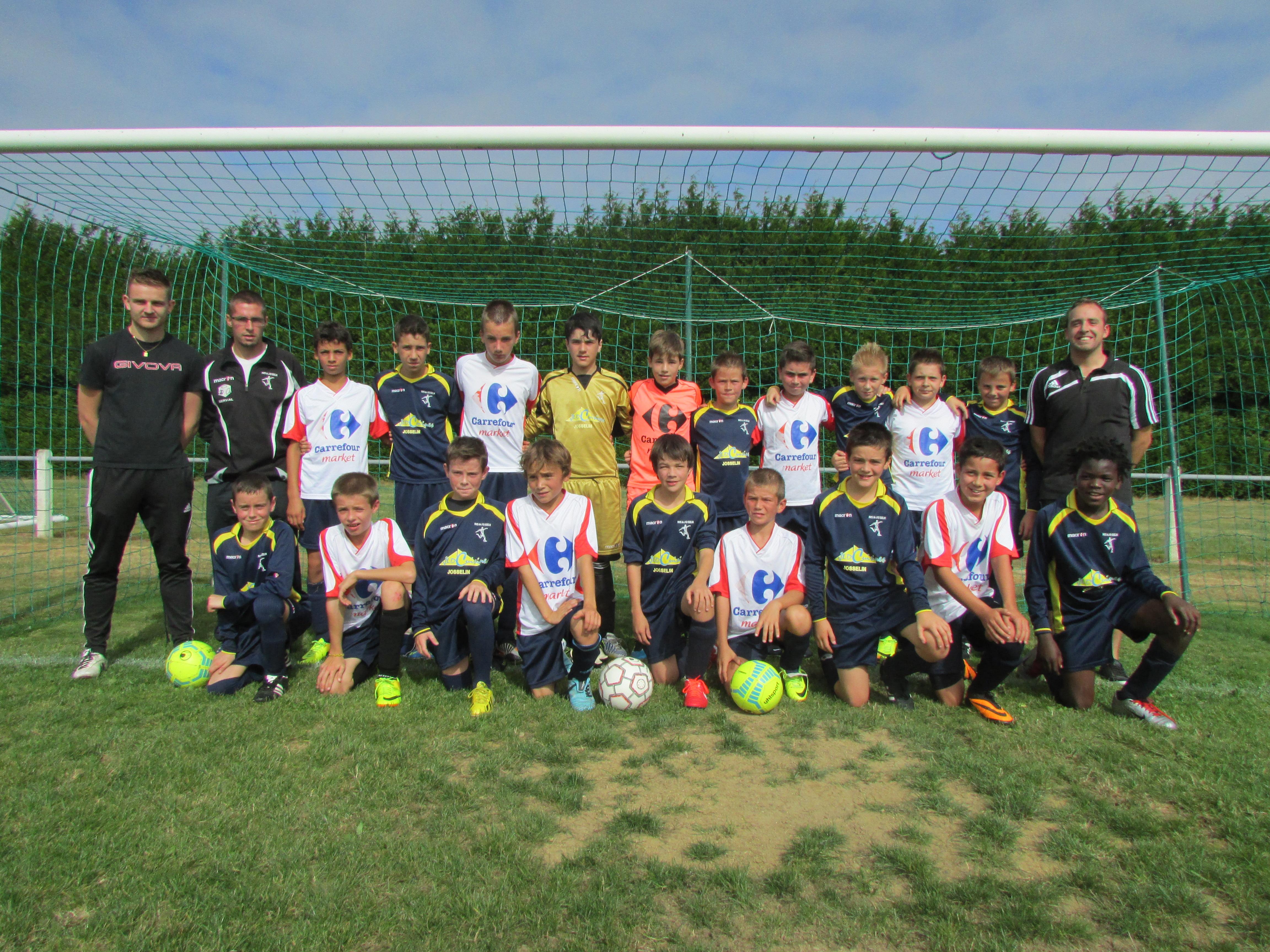 Équipe A et B du Groupement des Jeunes du Pays de Josselin - saison de football 2013/2014