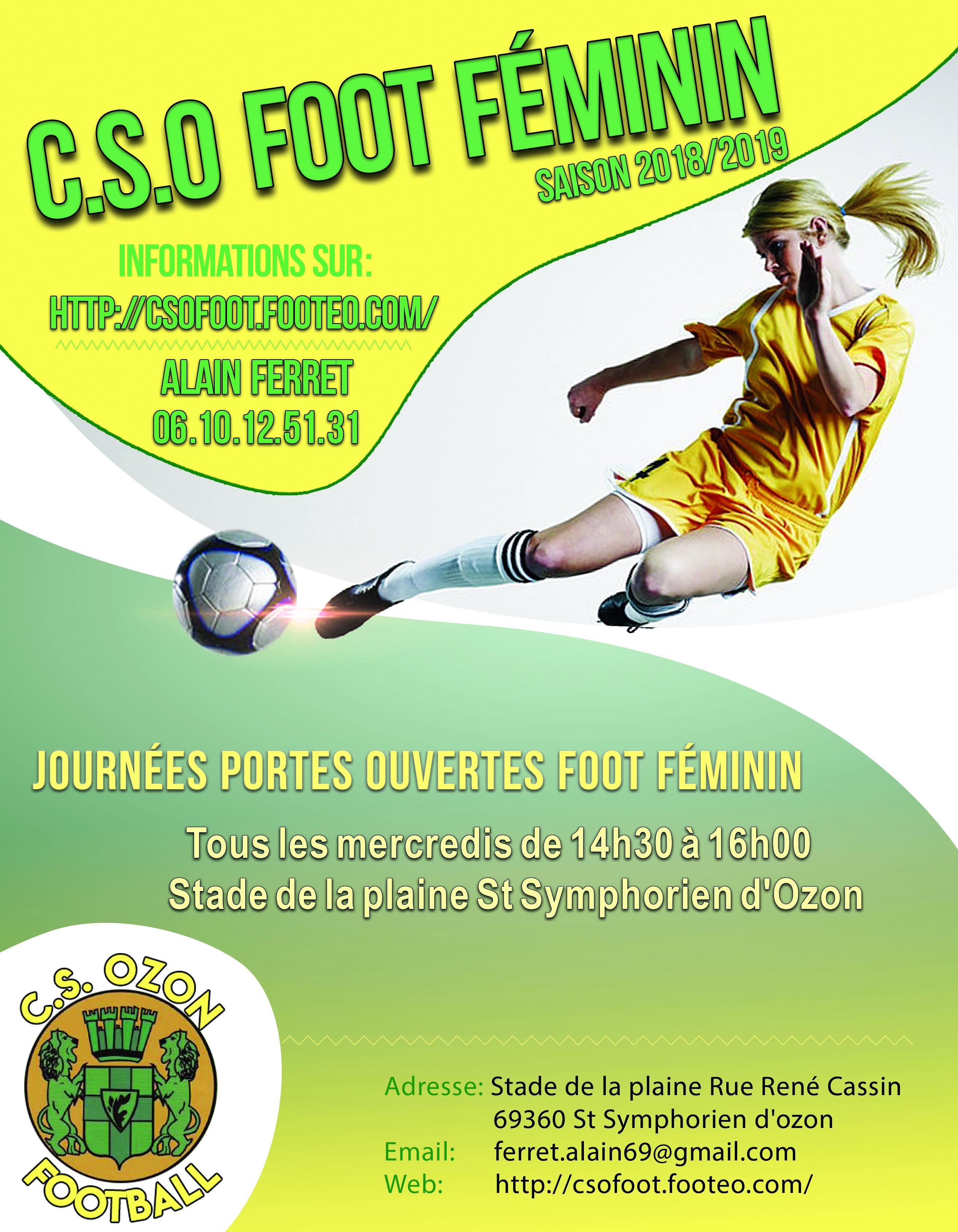 Foot Féminin - Le CSO recrute