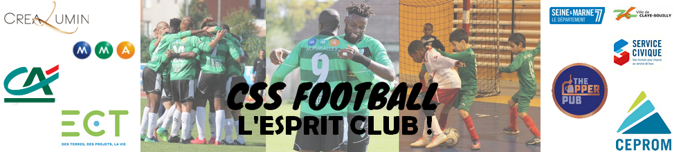 Site Internet officiel du club de football CLAYE-SOUILLY SPORTIF FOOTBALL (C.S.S. FOOTBALL)