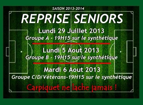reprise seniors 2013/2014