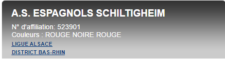 AS ESPAGNOLS SCHILTIGHEIM : site officiel du club de foot de Schiltigheim - footeo