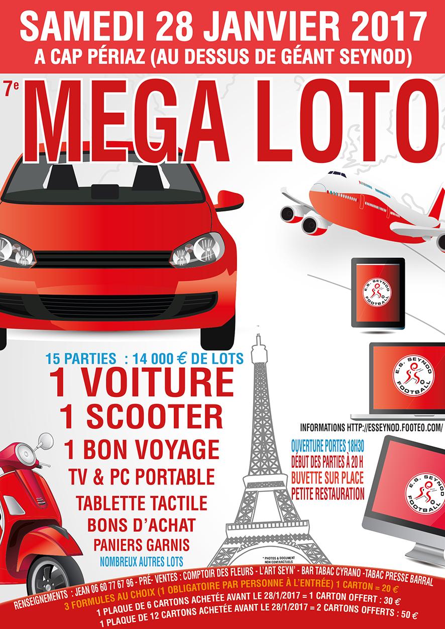 agenda - 7e mega loto du club avec voiture a gagner - club