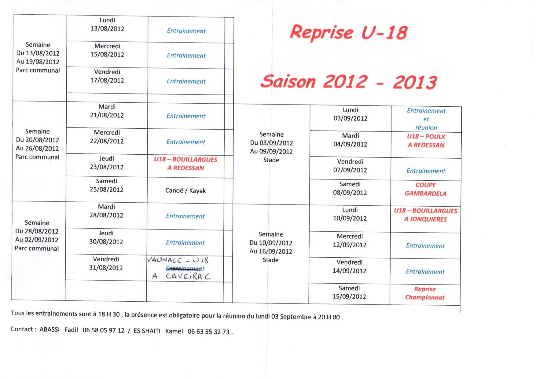 Reprise U18