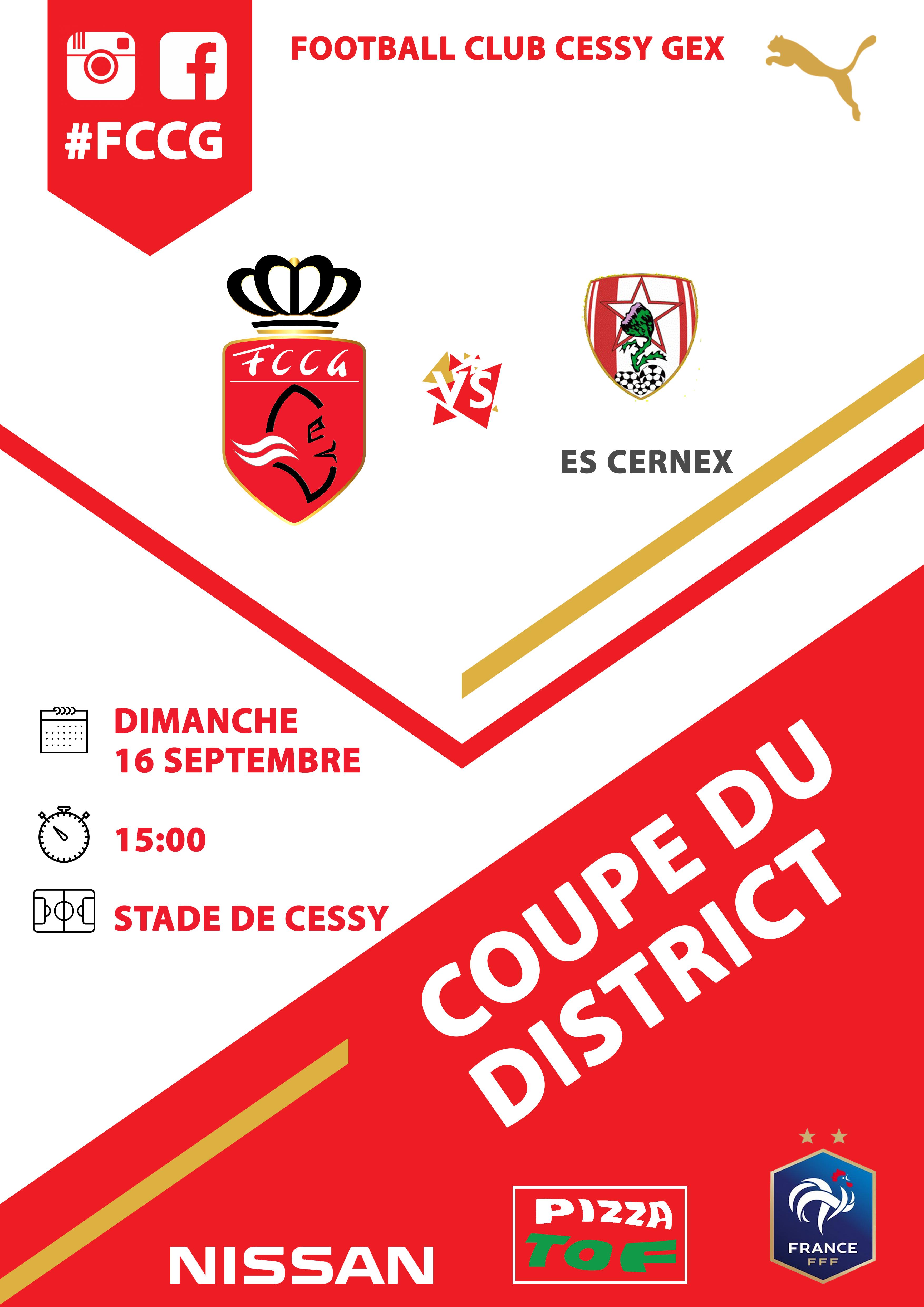 Coupe du district FCCG vs ES CERNEX