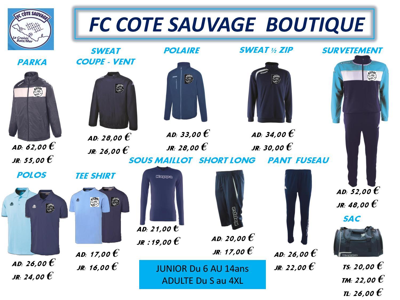 BOUTIQUE FC COTE SAUVAGE