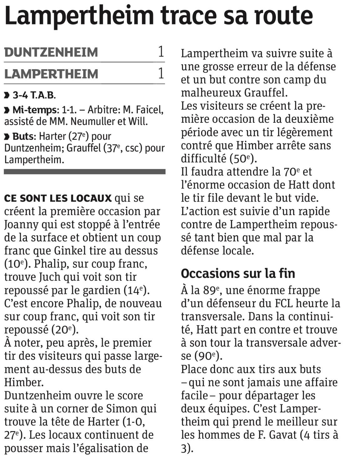 DNA du jour - Lampertheim trace se route