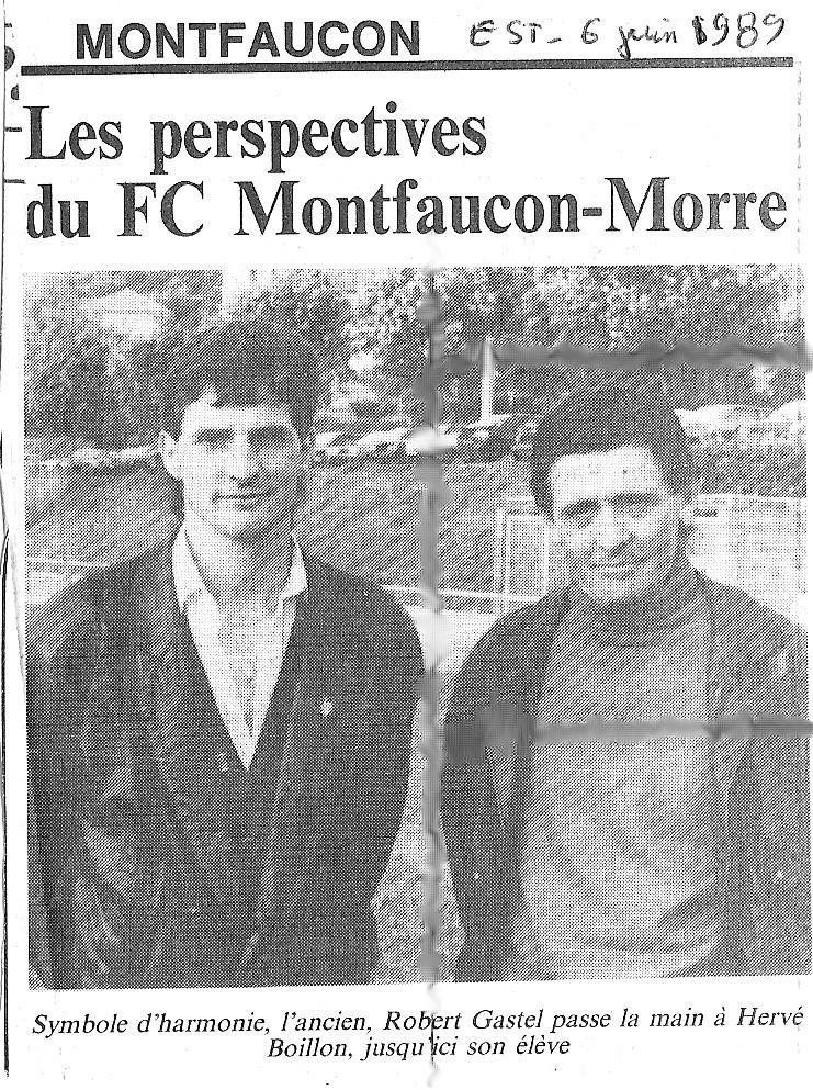 06/06/1989 - Les perspectives du FC montfaucon - Morre