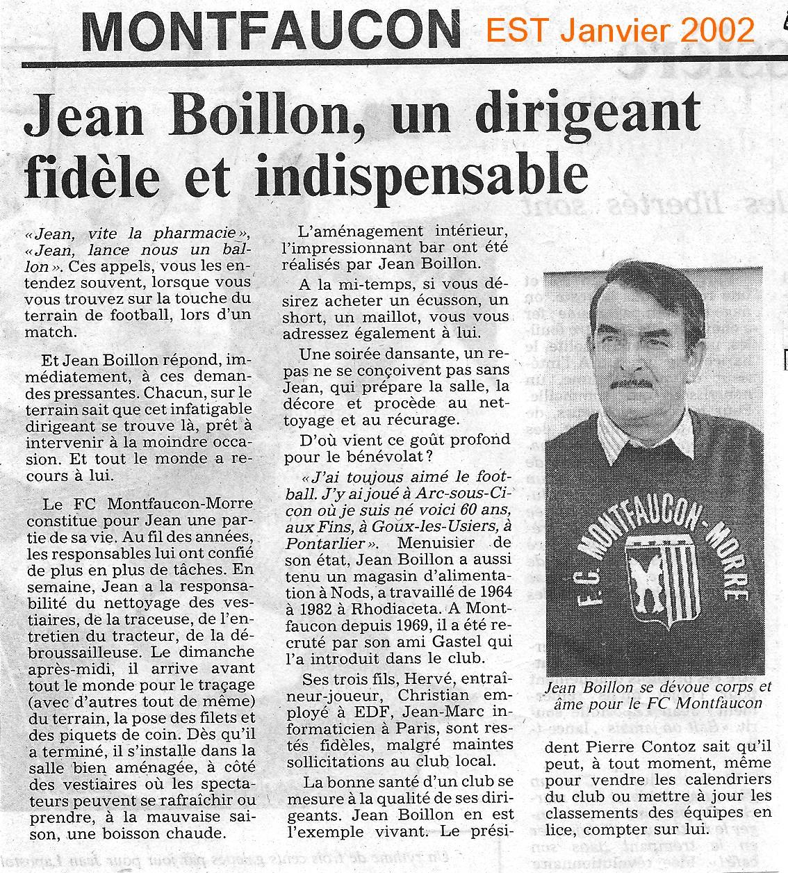 Jean BOILLON, dirigeant fidèle