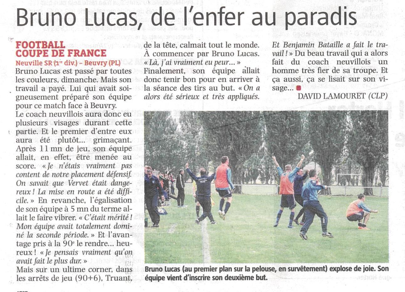 Actualit d faite fcn 2 3 caudry pour le 4e club football football club neuville st remy - Dotation coupe de france ...