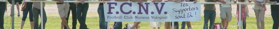 FOOTBALL CLUB DE NURIEUX-VOLOGNAT : site officiel du club de foot de NURIEUX-VOLOGNAT - footeo
