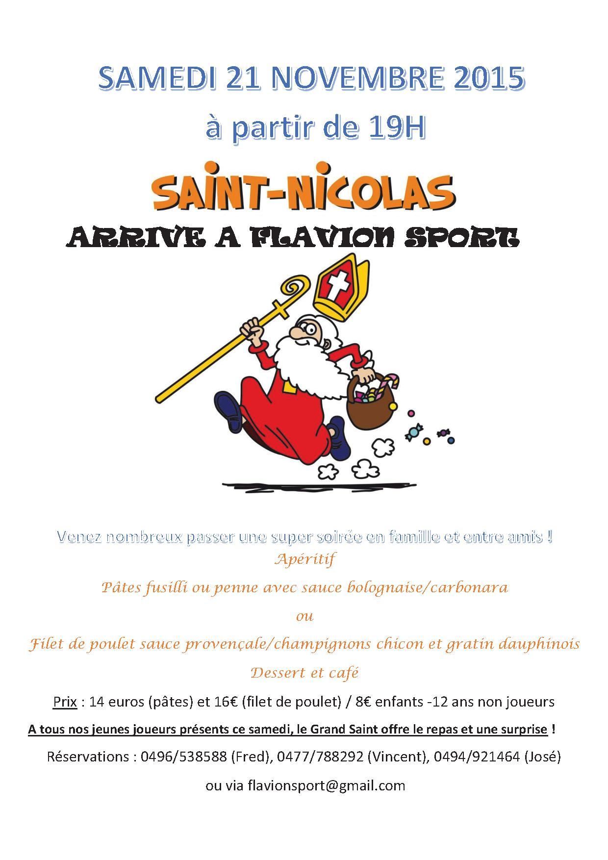 Affiche souper St Nicolas 2015