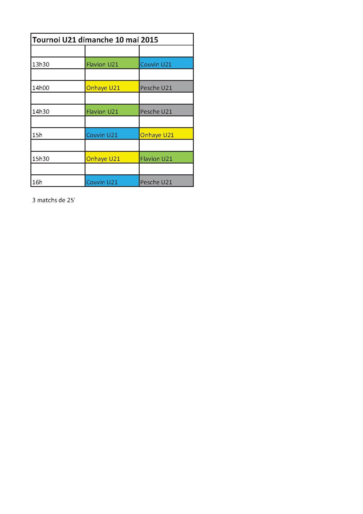 Tournoi U21