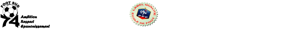 Site Internet officiel du club de football FOOT SUD 74