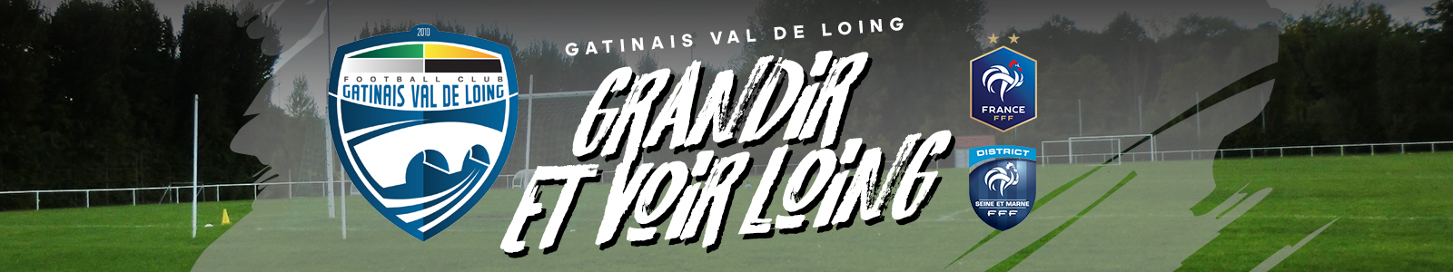 Site Internet officiel du club de football GATINAIS VAL DE LOING FC