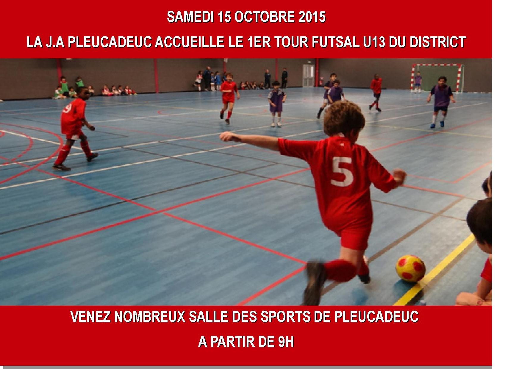 FUTSAL U13 DU 15 OCTOBRE 2015