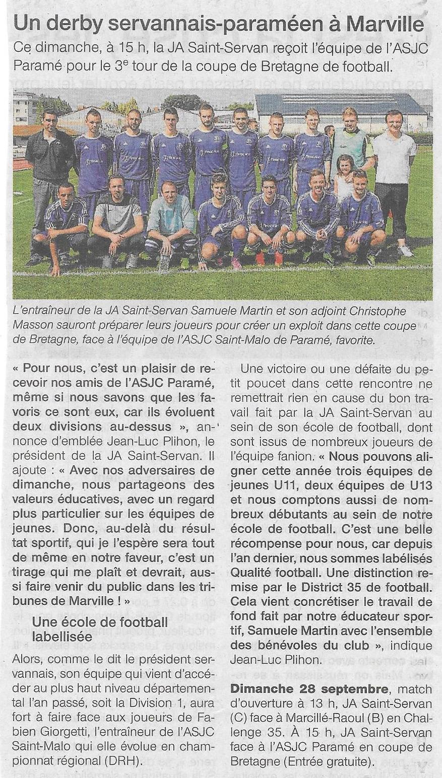 Match coupe de Bretagne