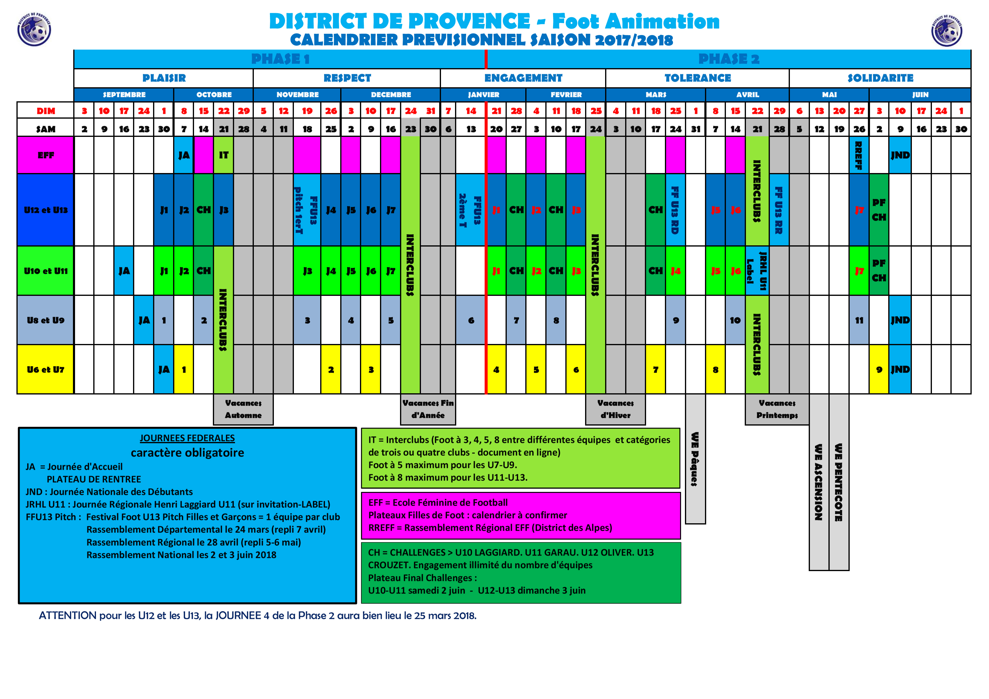 calendrier scolaire 2018 district 5