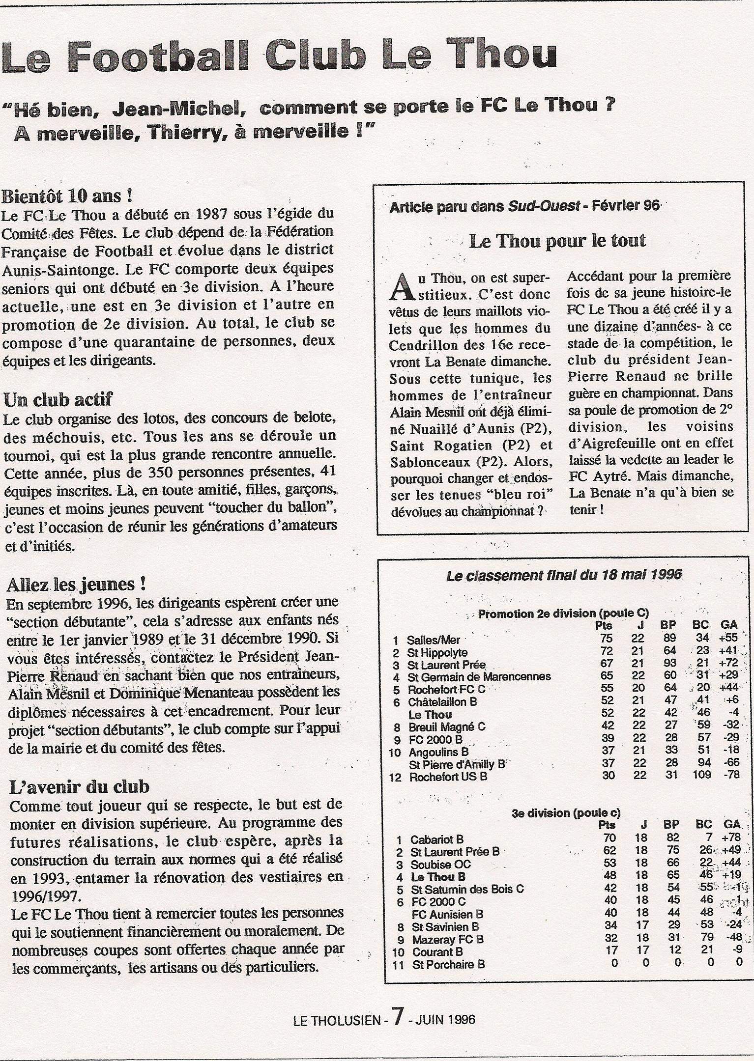 Article du 7 juin 1996