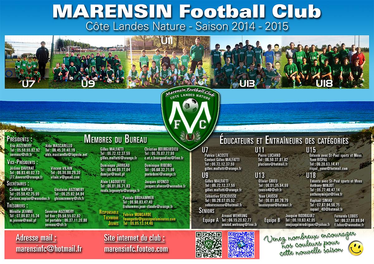calendrier école de foot saison 2014-2015