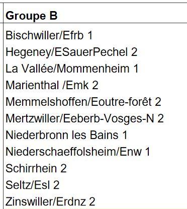 Groupe U15B Saison 2016/17