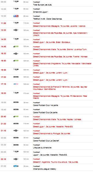 programme tv 07/10/2012