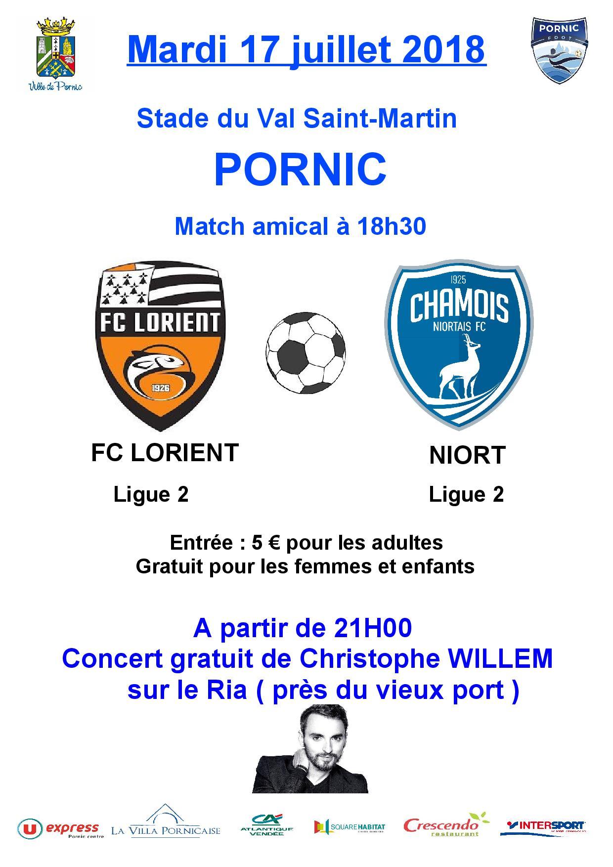 Match amical LORIENT V- NIORT