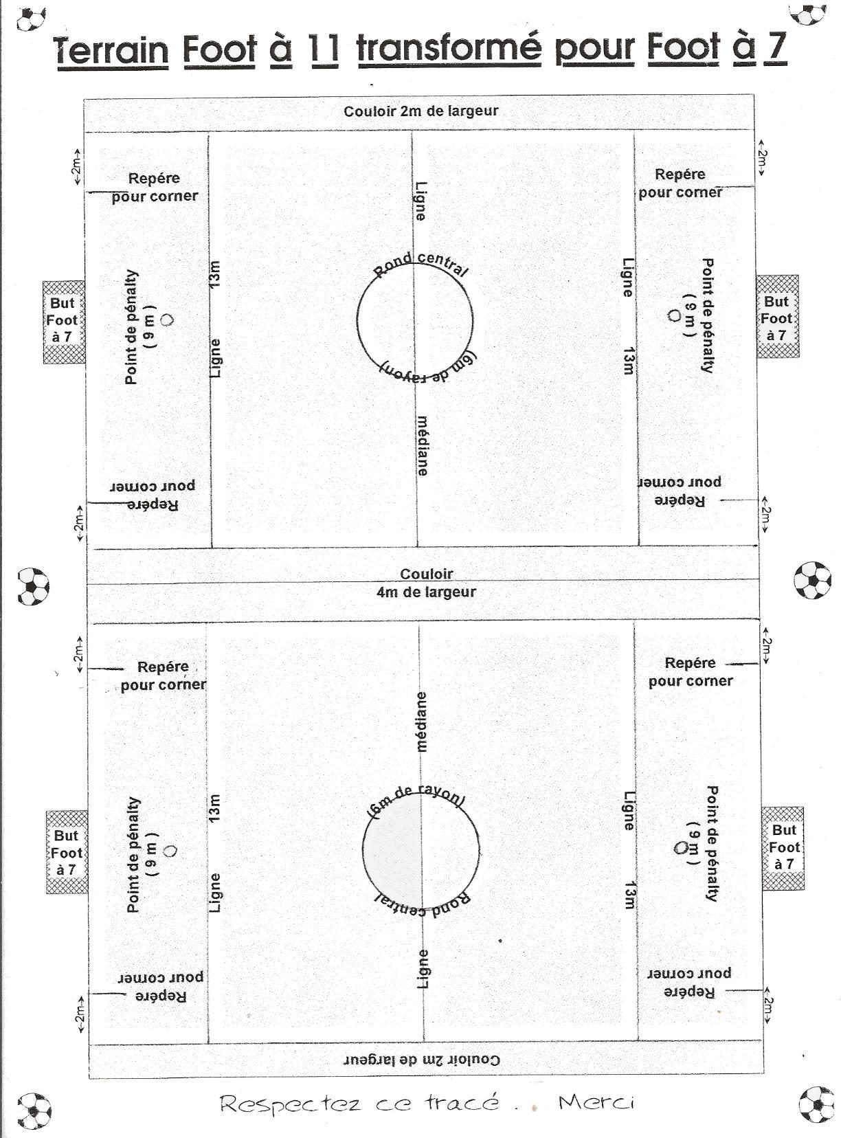 dimensions des terrains club football fc st laurent d 39 arce st gervais footeo. Black Bedroom Furniture Sets. Home Design Ideas