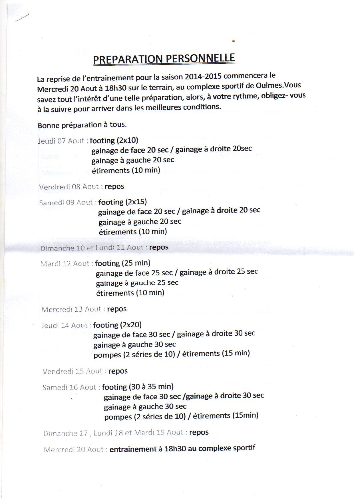 Programme rencontres football