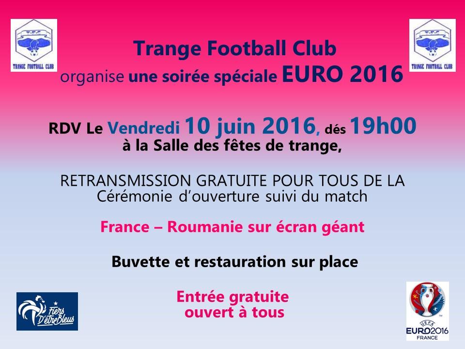 Soirée Euro 2016 sur écran géant
