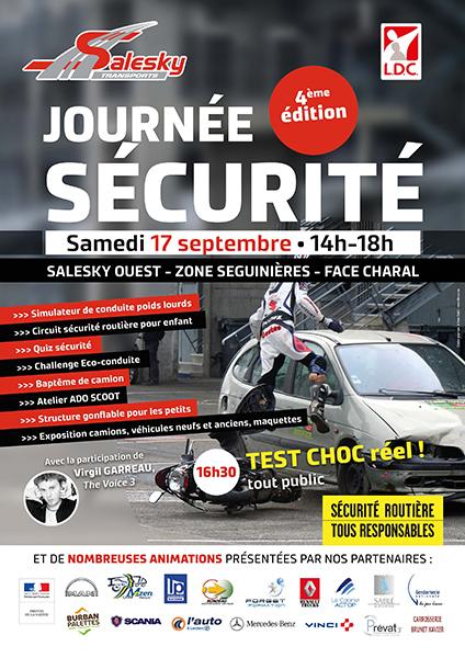 Affiche Journée Sécurité Routière Salesky