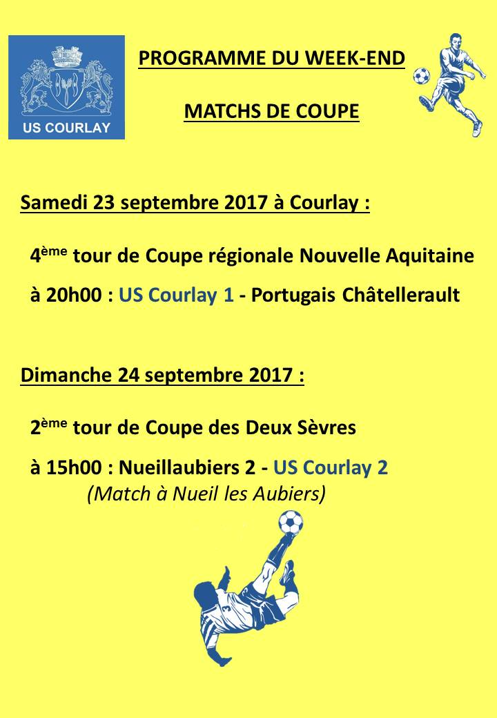 2017_09_21 Matchs_au_programme_du_week_end