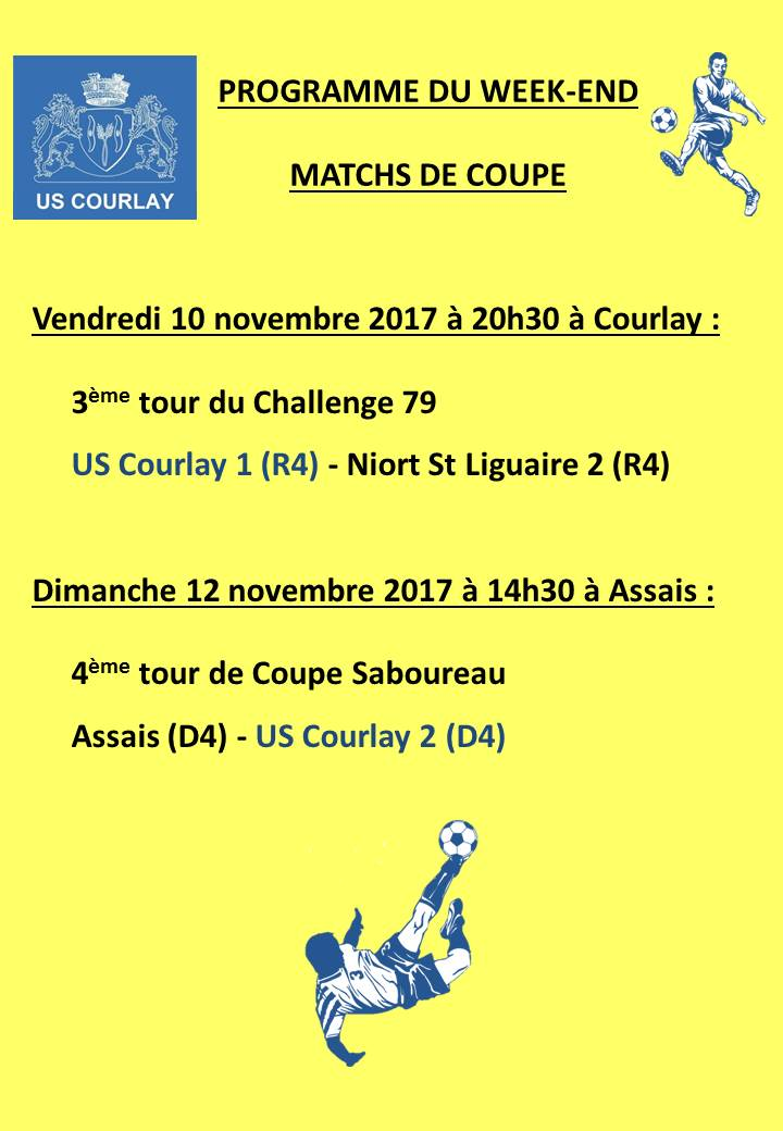 2017_11_09 Matchs_au_programme_du_week_end