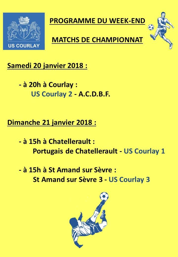 2018_01_18 Matchs_au_programme_du_week_end