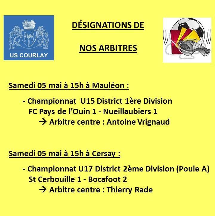 2018_05_04 Désignations_de_nos_arbitres
