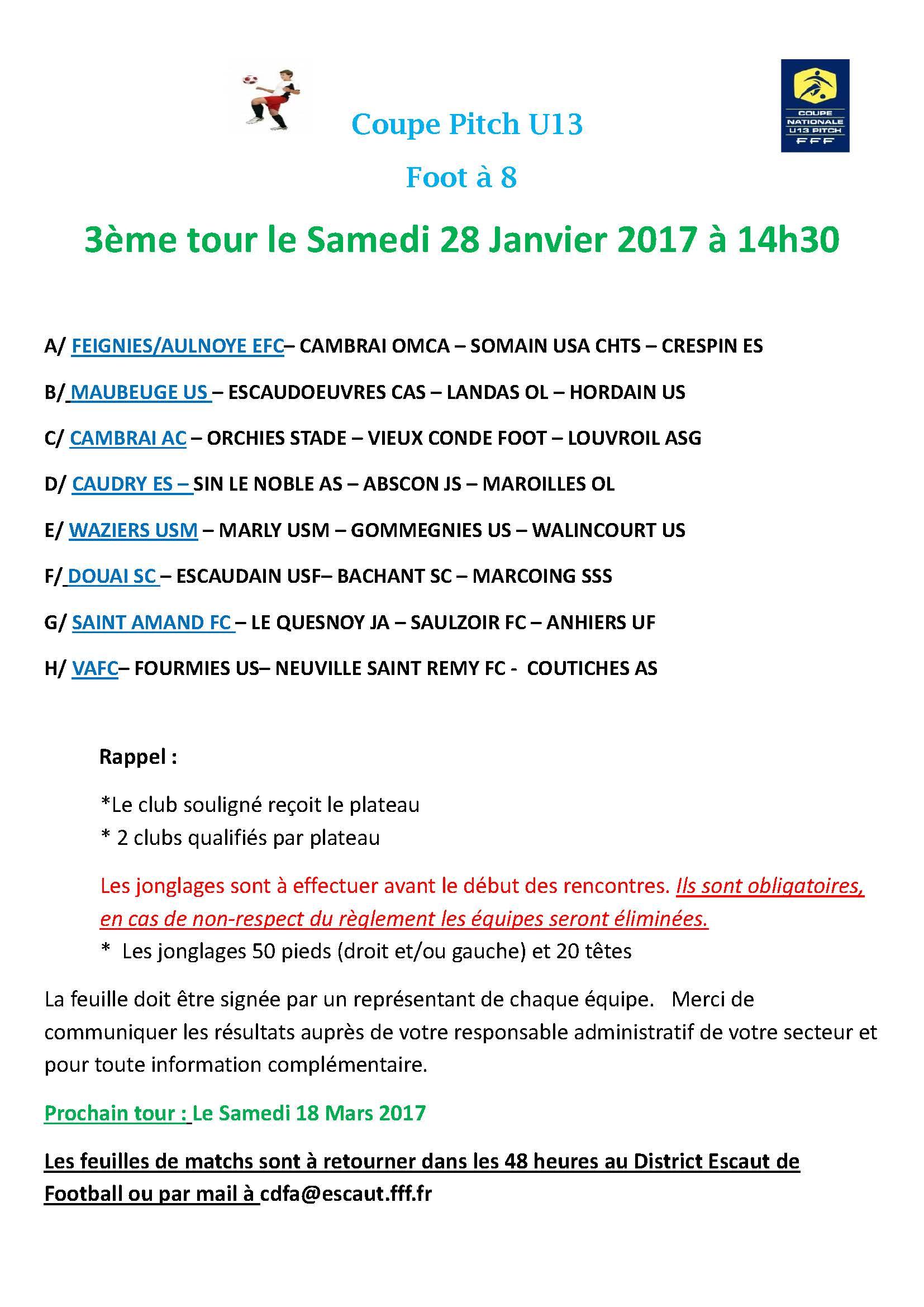 Festival U13 Pitch Tour inter secteur 30.01.16