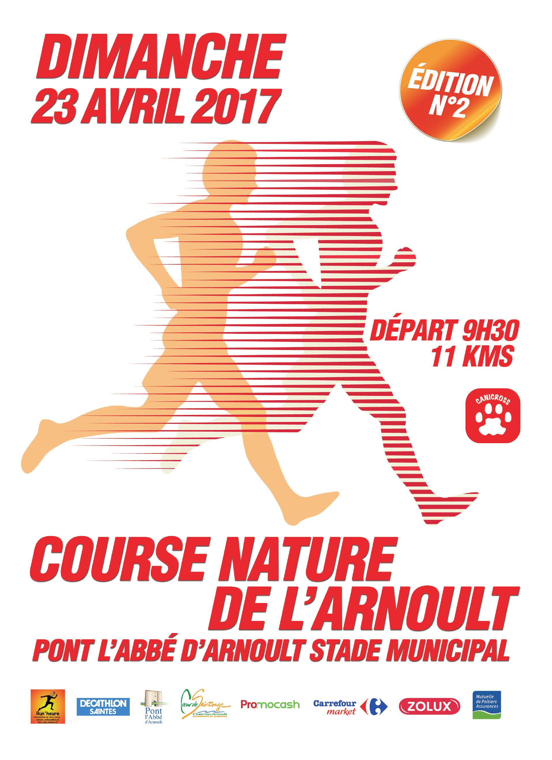 Affiche course nature de l'arnoult 2017