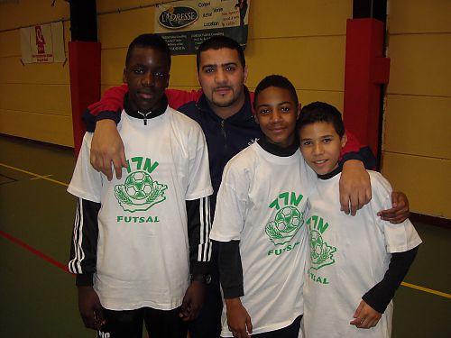 Stanley, Jordan et Mael en compagnie de notre vice-president. (manque lucas sur la photo)