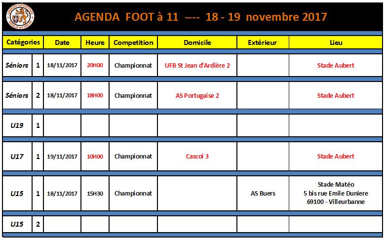 Agenda foot à 11 du 18 et 19 novembre 2017.png