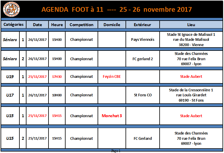 agenda foot a 11 du 25 et 26 novembre 2017.png