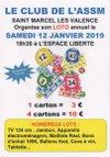 Samedi 12 janvier 2019 - loto de l'ASSM - AS Saint-Marcel