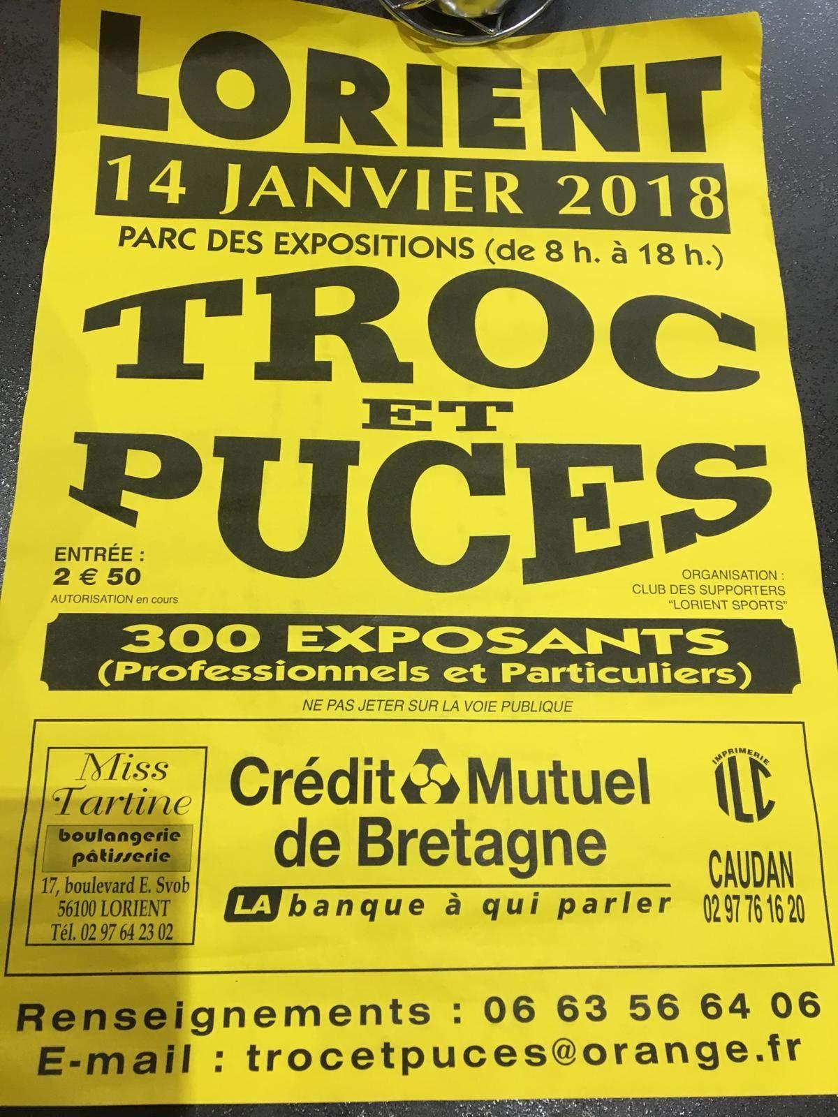 Calendrier Troc Et Puces 56.Actualite 20eme Troc Et Puces De Lorient Sports Club