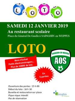 Loto le 12/01/2019 - Association Olympique Sainghinoise