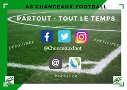 L'AS CHANCEAUX Football et les réseaux sociaux