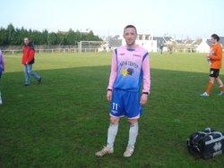 Sylvain LE GALL le seul et unique buteur face au FC QUIMPERLE - amicale sportive de saint-yvi