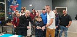 Inauguration du foyer de St Macaire - Saint André Saint Macaire. FC