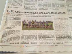 Articles de Presse / saison 2018-2019 - FC CLAIES DE VIRE